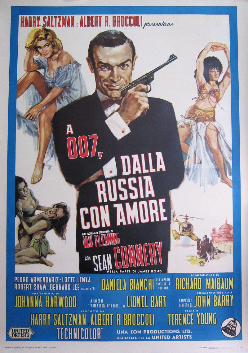 From Russia with Love Italian 4 foglio (55x78) Original Vintage Movie Poster