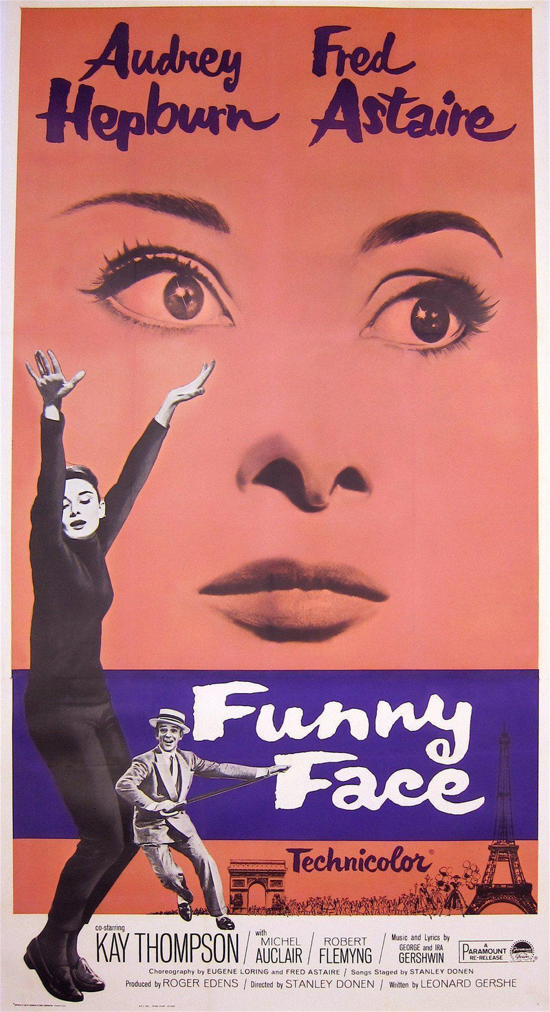 Funny Face 3 Sheet (41x81) Original Vintage Movie Poster