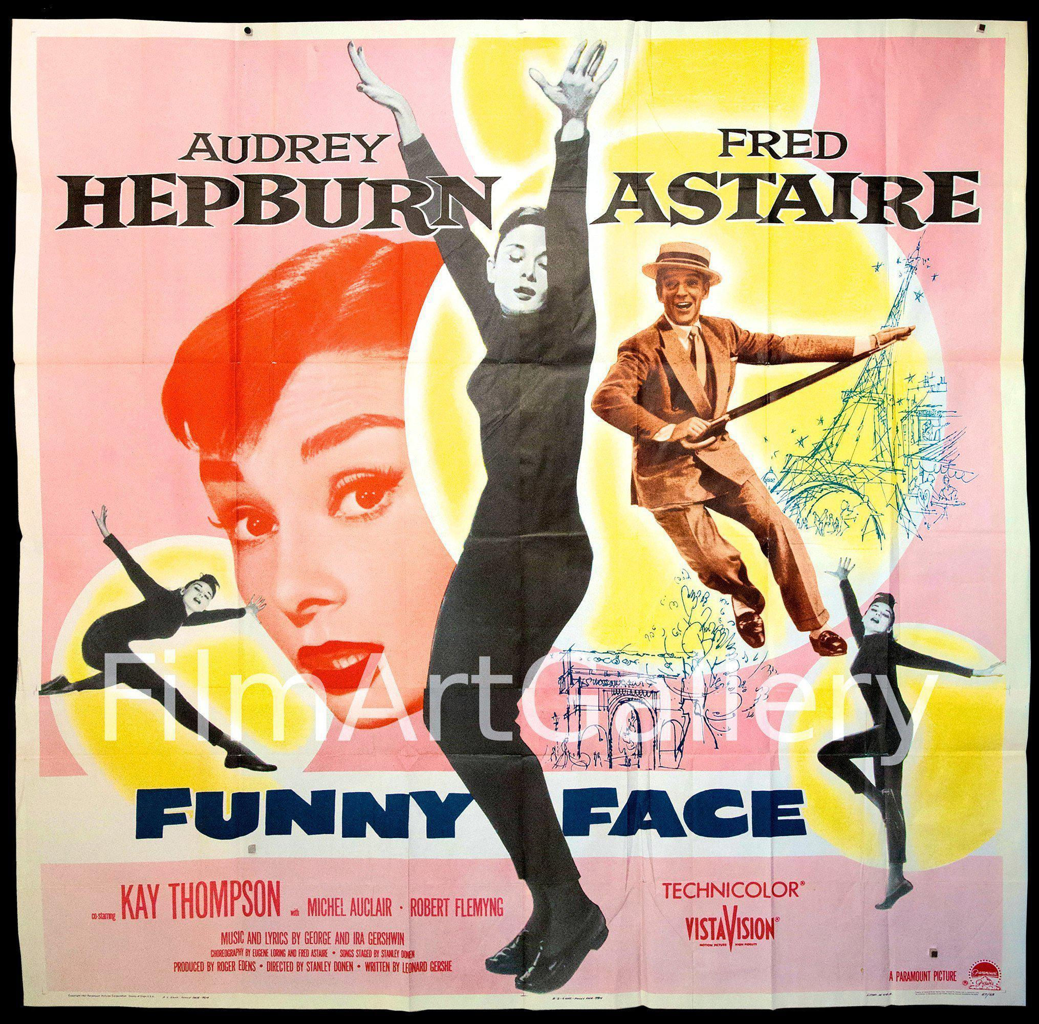 Funny Face 6 Sheet (81x81) Original Vintage Movie Poster