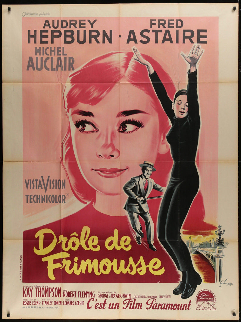 Funny Face French 1 panel (47x63) Original Vintage Movie Poster