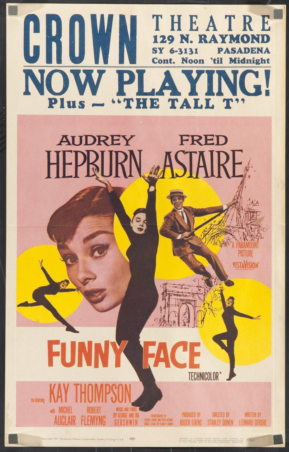 Funny Face Window Card (14x22) Original Vintage Movie Poster