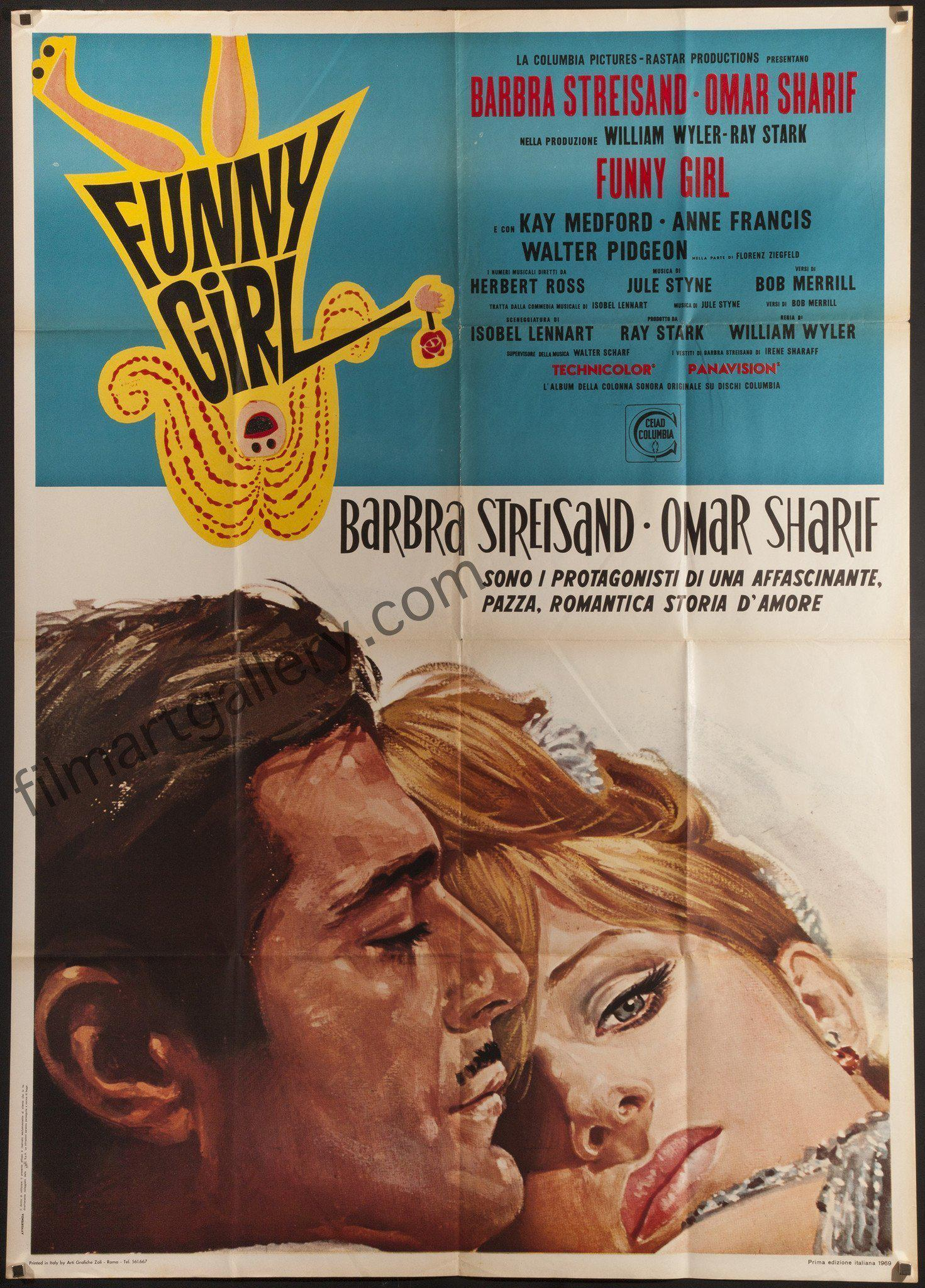 Funny Girl Italian 2 foglio (39x55) Original Vintage Movie Poster
