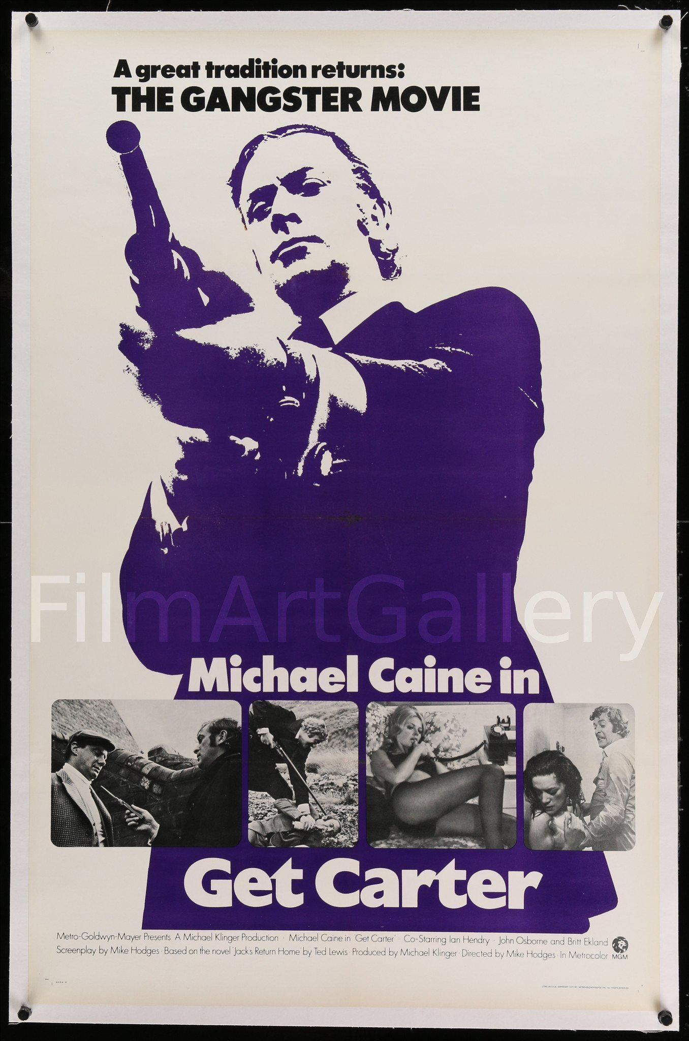 Get Carter 1 Sheet (27x41) Original Vintage Movie Poster