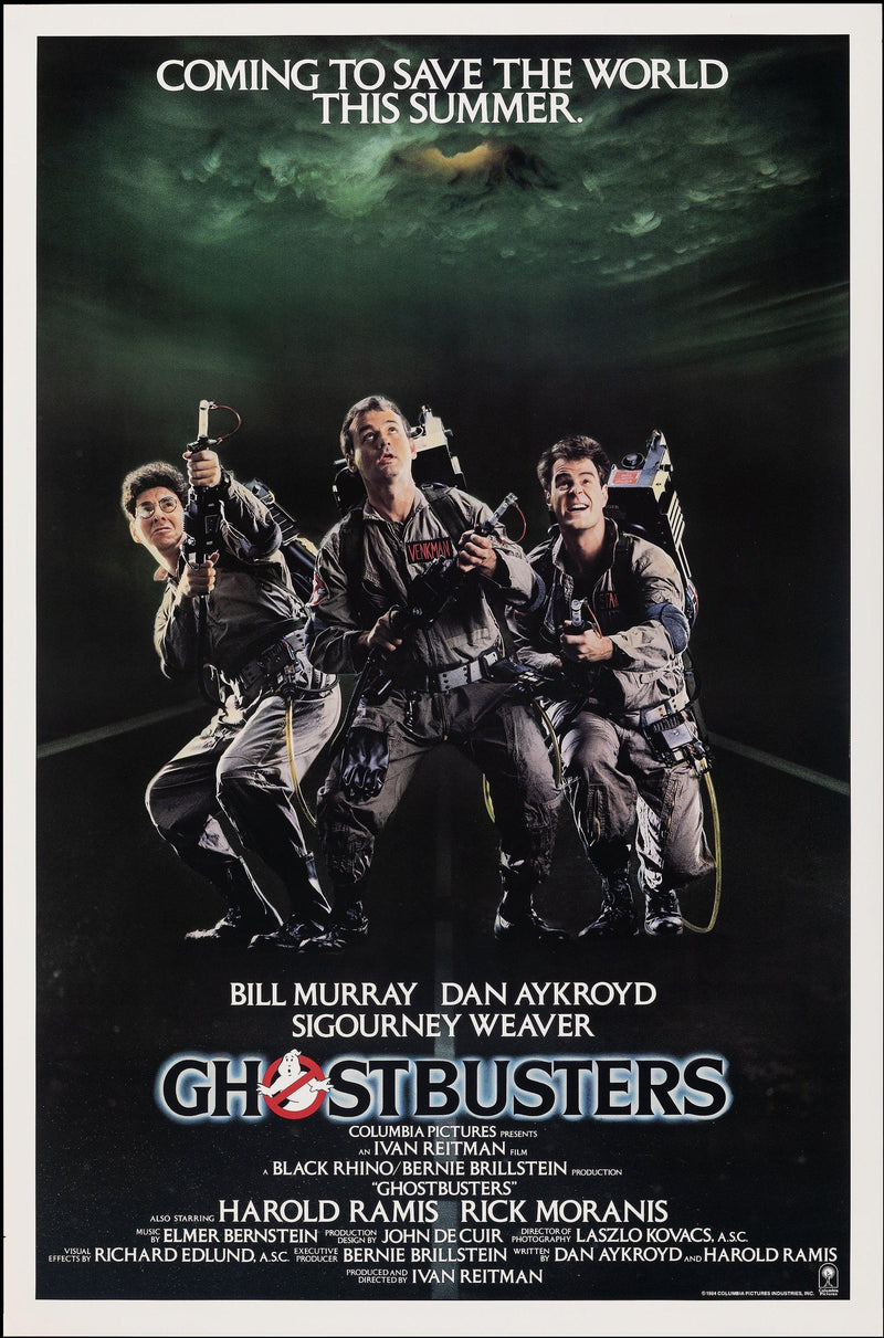 Ghostbusters 1 Sheet (27x41) Original Vintage Movie Poster