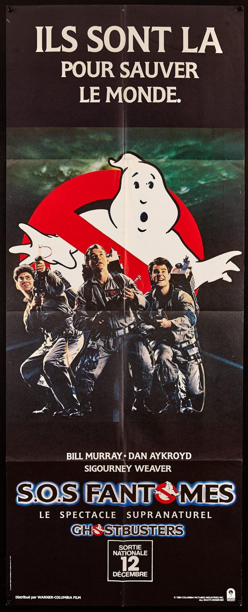 Ghostbusters 22x63 Original Vintage Movie Poster