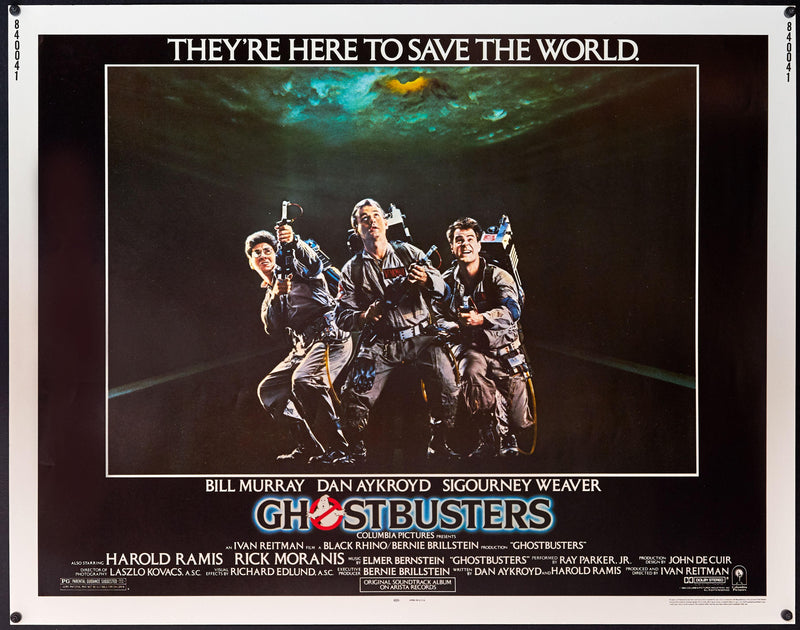 Ghostbusters Half Sheet (22x28) Original Vintage Movie Poster