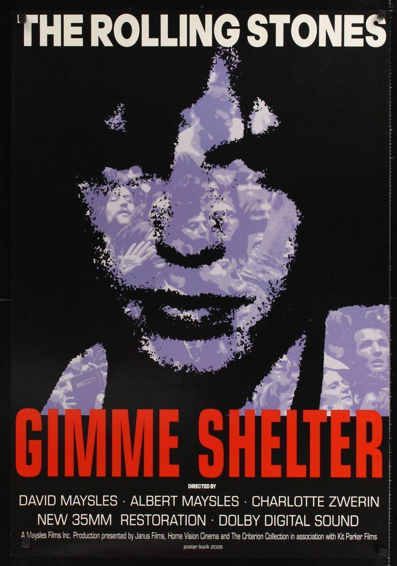 Gimme Shelter 1 Sheet (27x41) Original Vintage Movie Poster