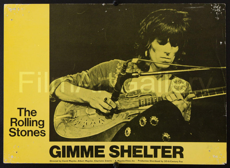 Gimme Shelter Lobby Card Original Vintage Movie Poster