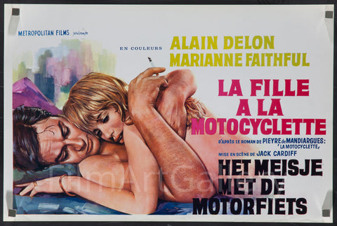 Girl on a Motorcycle (Naked Under Leather) Belgian (14x22) Original Vintage Movie Poster