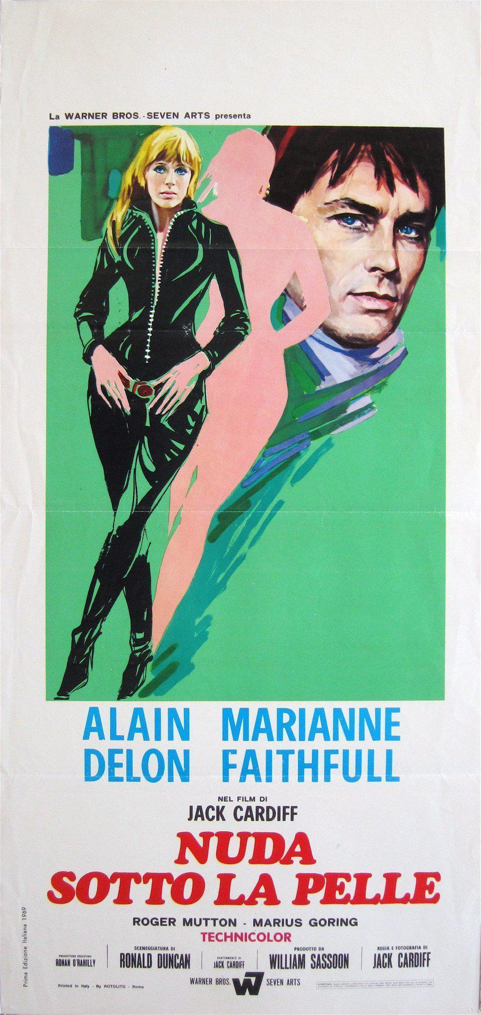 Girl on a Motorcycle (Naked Under Leather) Italian Locandina (13x28) Original Vintage Movie Poster