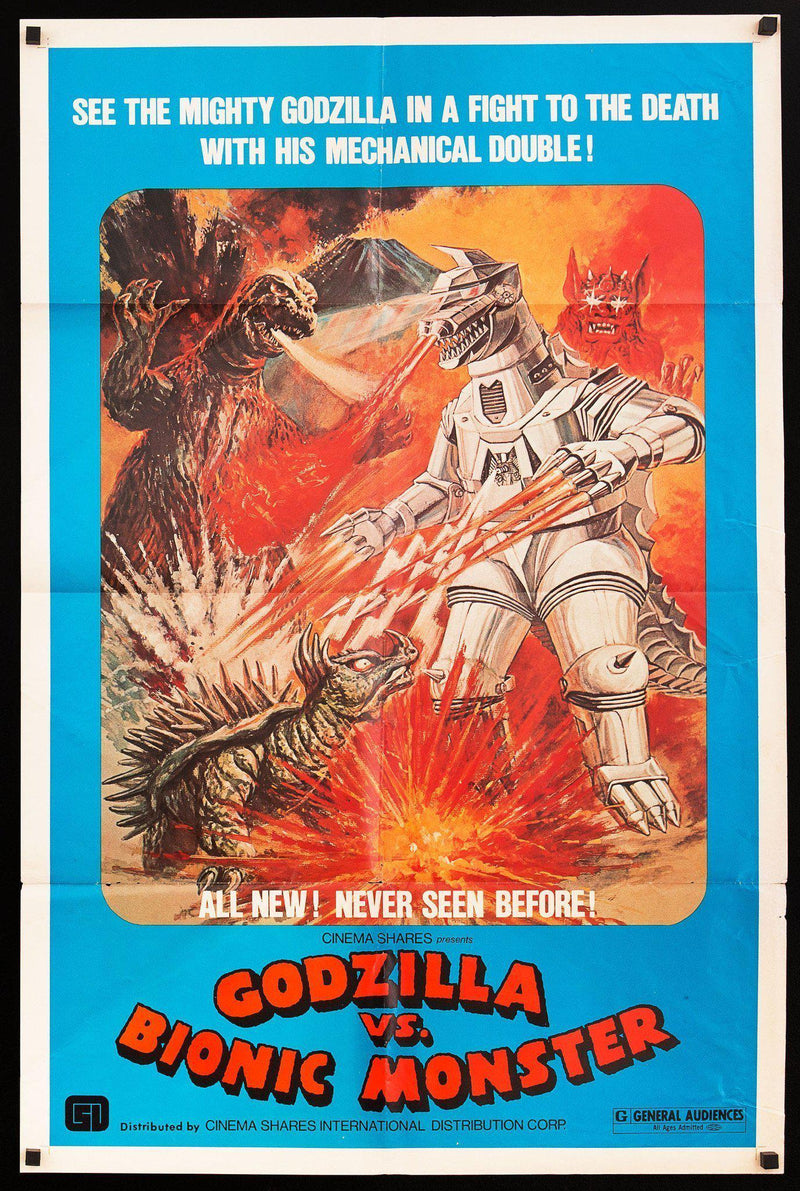 Godzilla vs. Bionic Monster 1 Sheet (27x41) Original Vintage Movie Poster