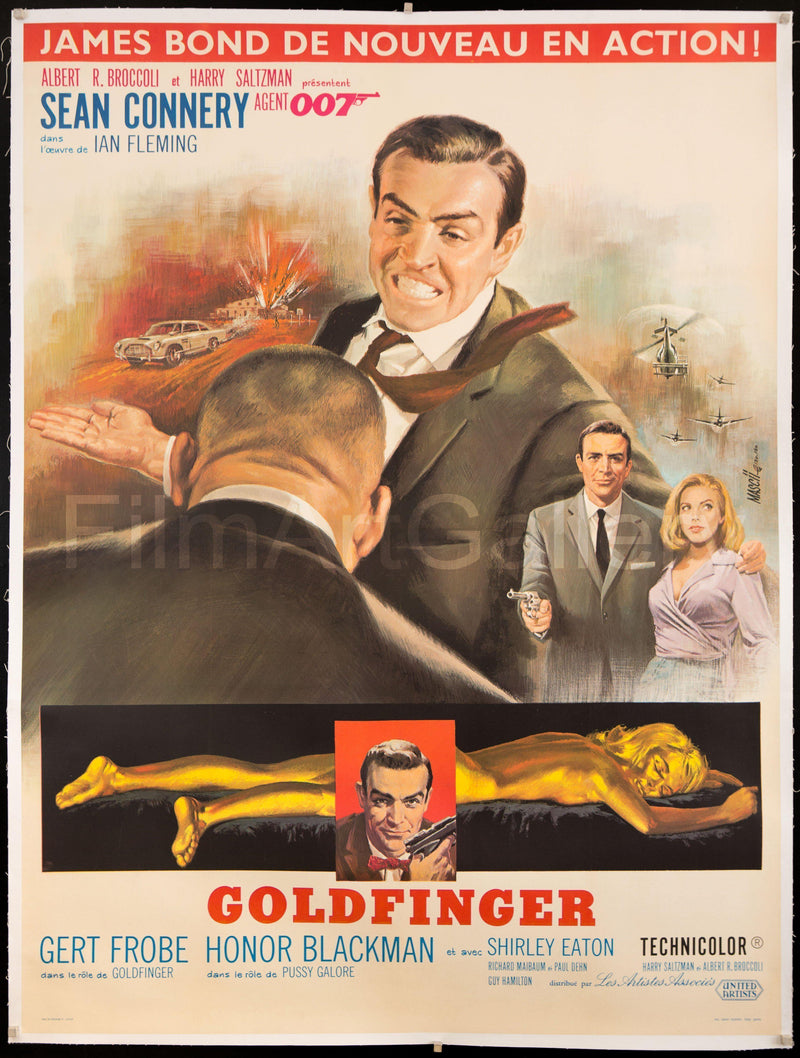 Goldfinger French 1 panel (47x63) Original Vintage Movie Poster