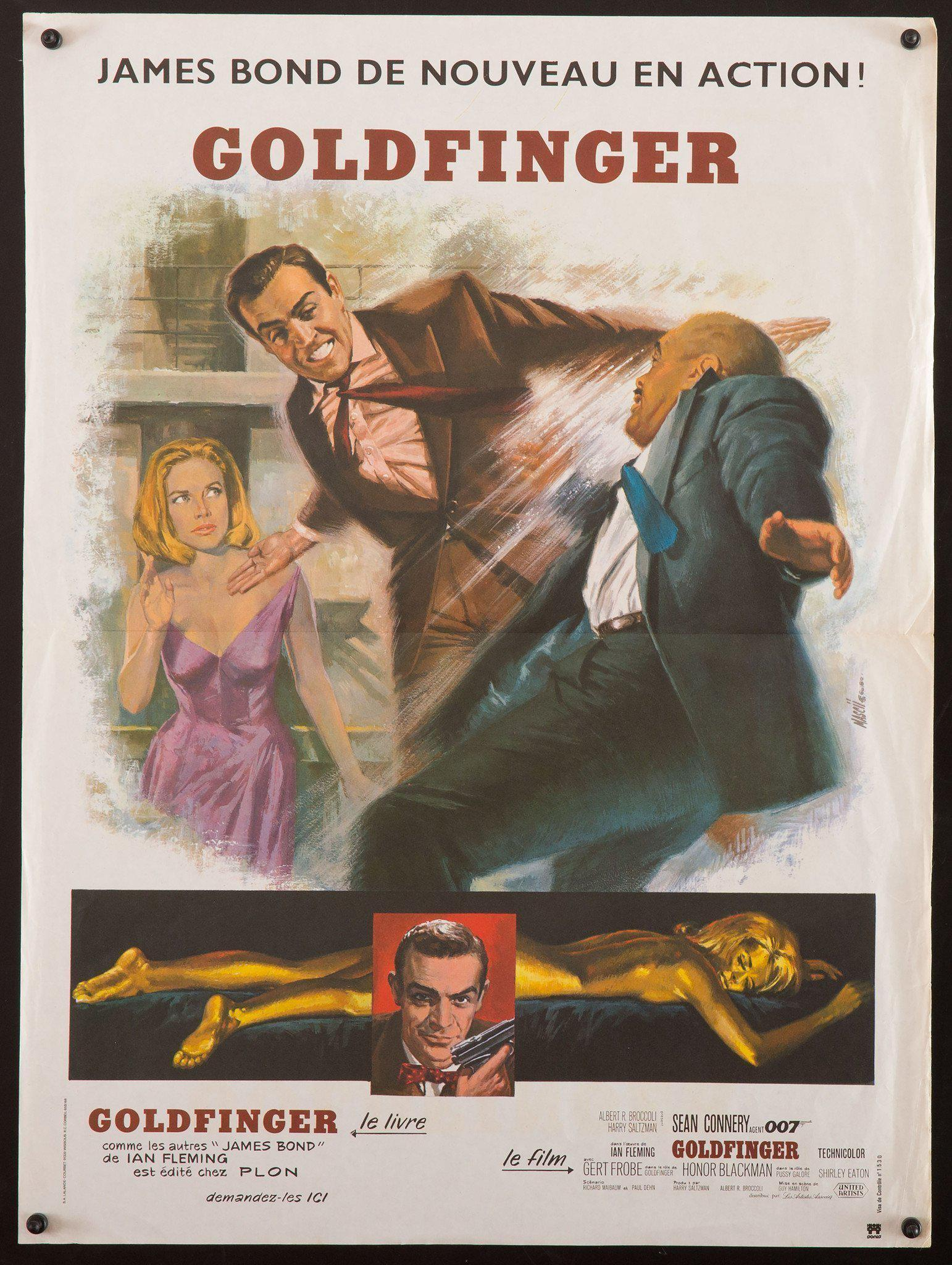 Goldfinger French Mini (16x23) Original Vintage Movie Poster