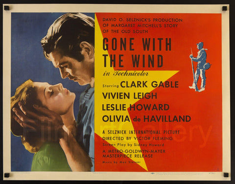 Gone With the Wind 22x28 Original Vintage Movie Poster
