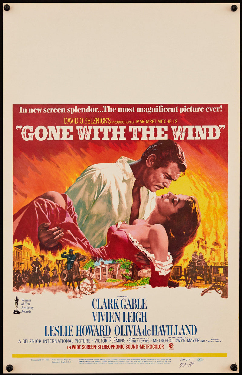 Gone With the Wind Window Card (14x22) Original Vintage Movie Poster