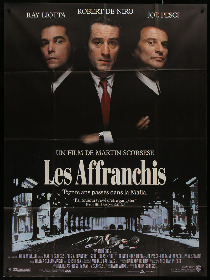 Goodfellas French 1 panel (47x63) Original Vintage Movie Poster