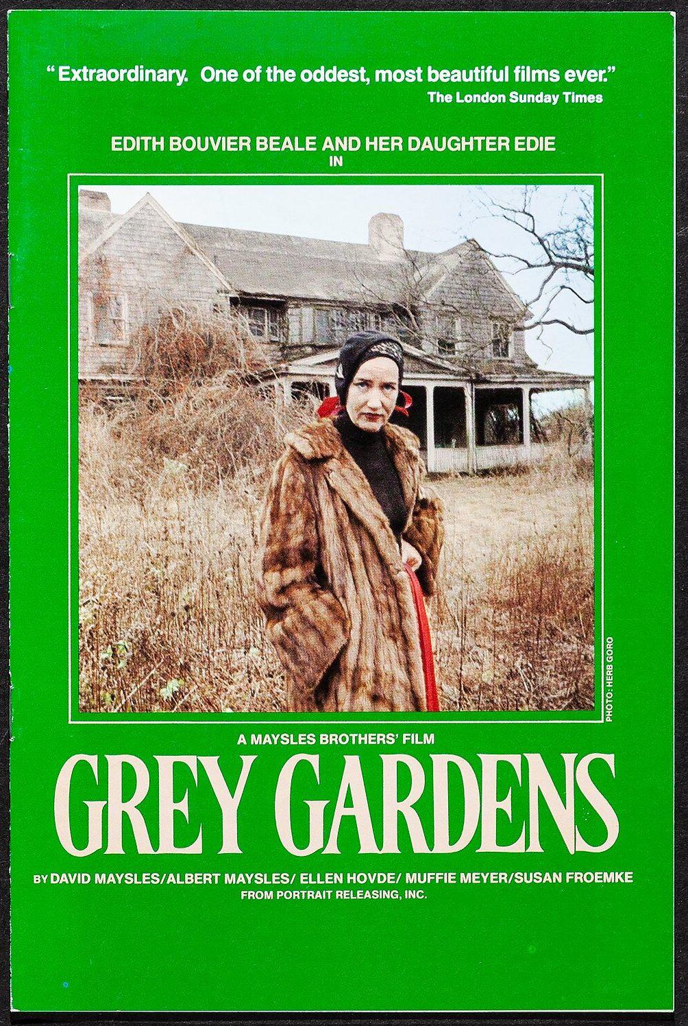 Grey Gardens Program Original Vintage Movie Poster