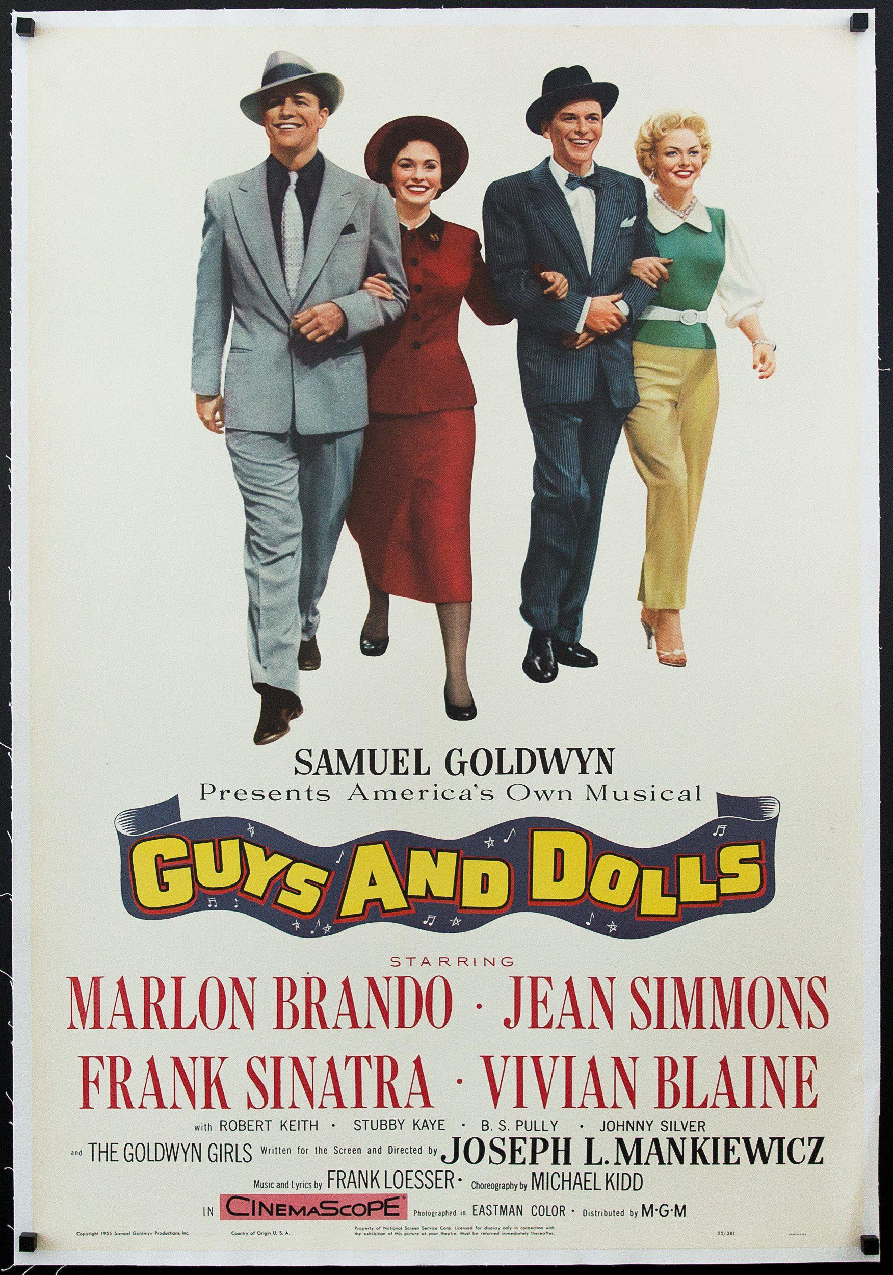Guys and Dolls 1 Sheet (27x41) Original Vintage Movie Poster