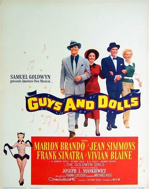 Guys and Dolls Half sheet (22x28) Original Vintage Movie Poster
