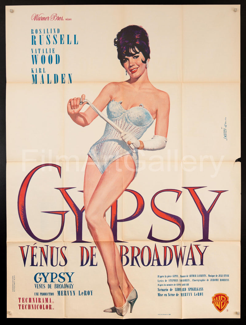 Gypsy French 1 Panel (47x63) Original Vintage Movie Poster
