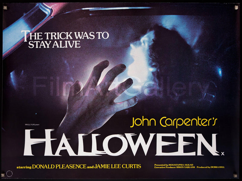 Halloween British Quad (30x40) Original Vintage Movie Poster