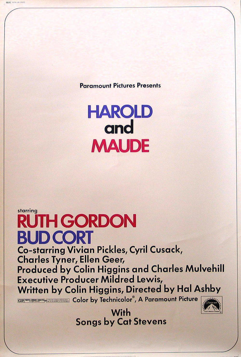 Harold and Maude 40x60 Original Vintage Movie Poster