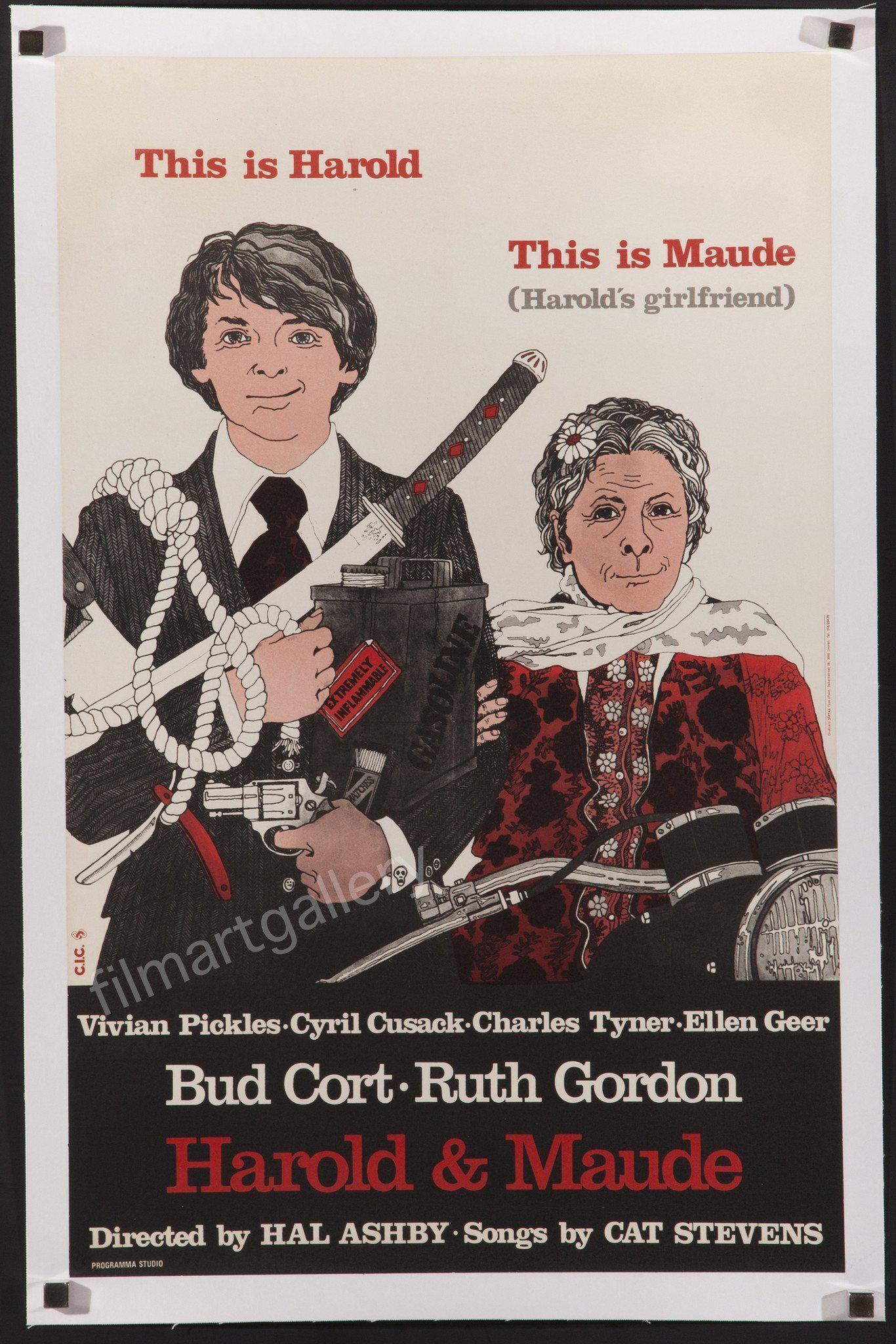 Harold and Maude Belgian (15x24) Original Vintage Movie Poster