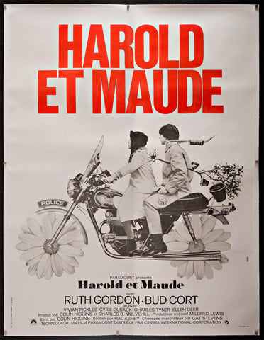 Harold and Maude French 1 panel (47x63) Original Vintage Movie Poster
