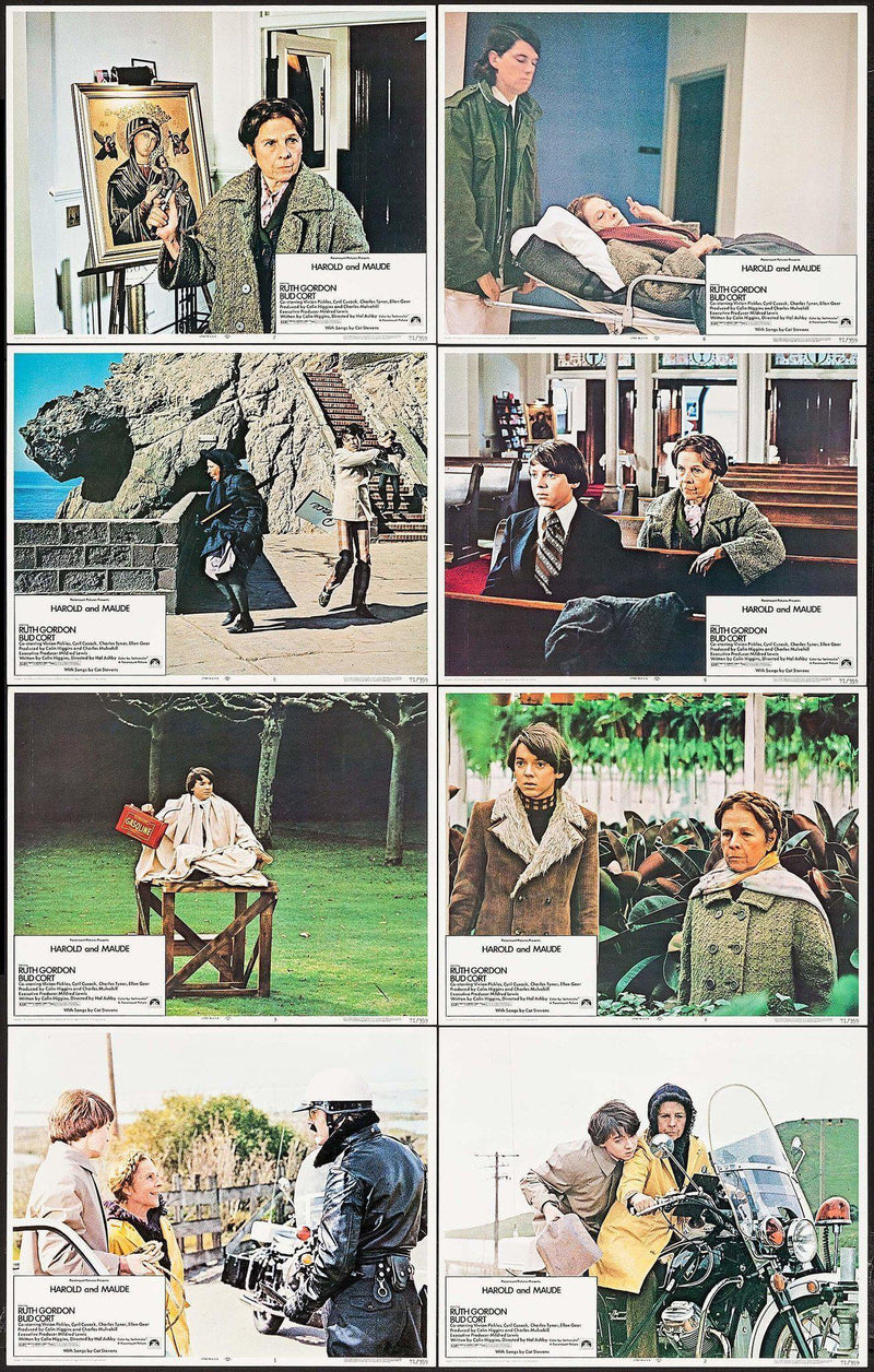 Harold and Maude Lobby Card Set (8-11x14) Original Vintage Movie Poster