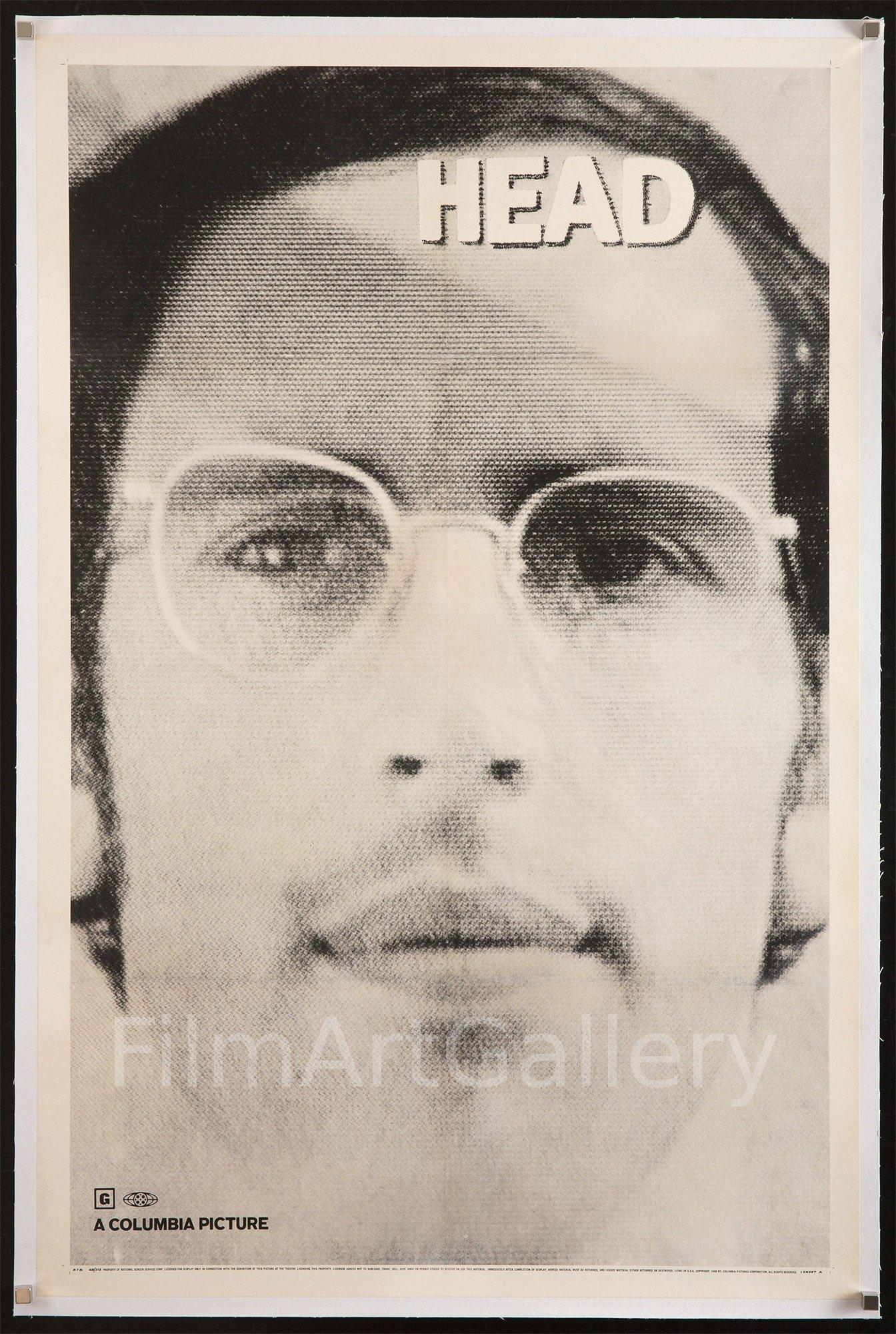 Head 1 Sheet (27x41) Original Vintage Movie Poster