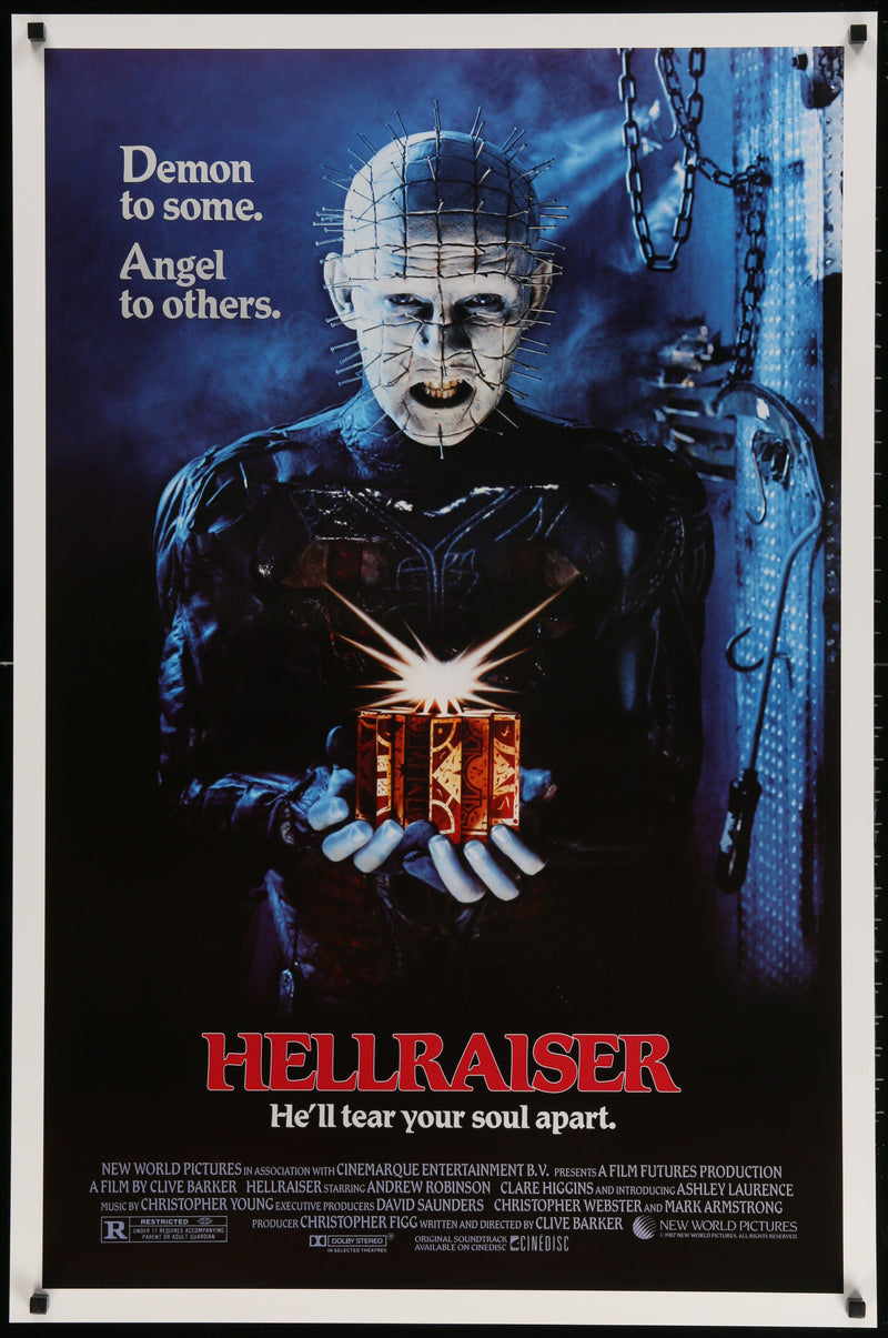Hellraiser 1 Sheet (27x41) Original Vintage Movie Poster