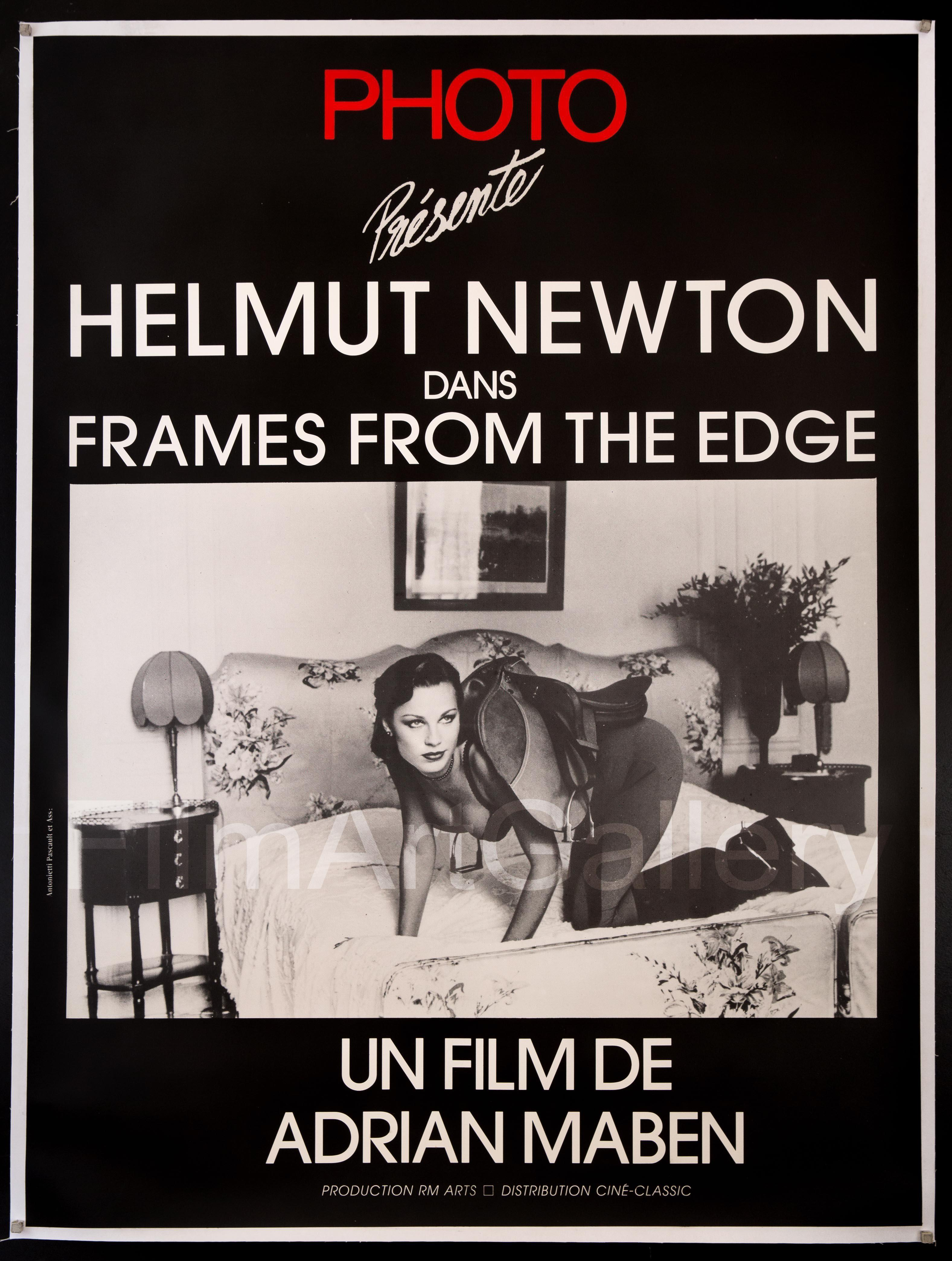 Helmut Newton Frames From The Edge French 1 panel (47x63) Original Vintage Movie Poster