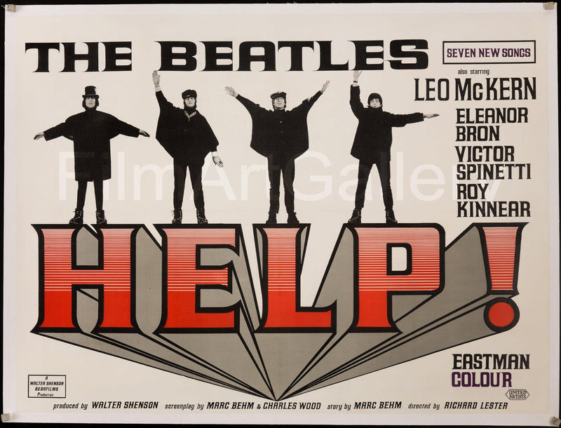 Help British Quad (30x40) Original Vintage Movie Poster