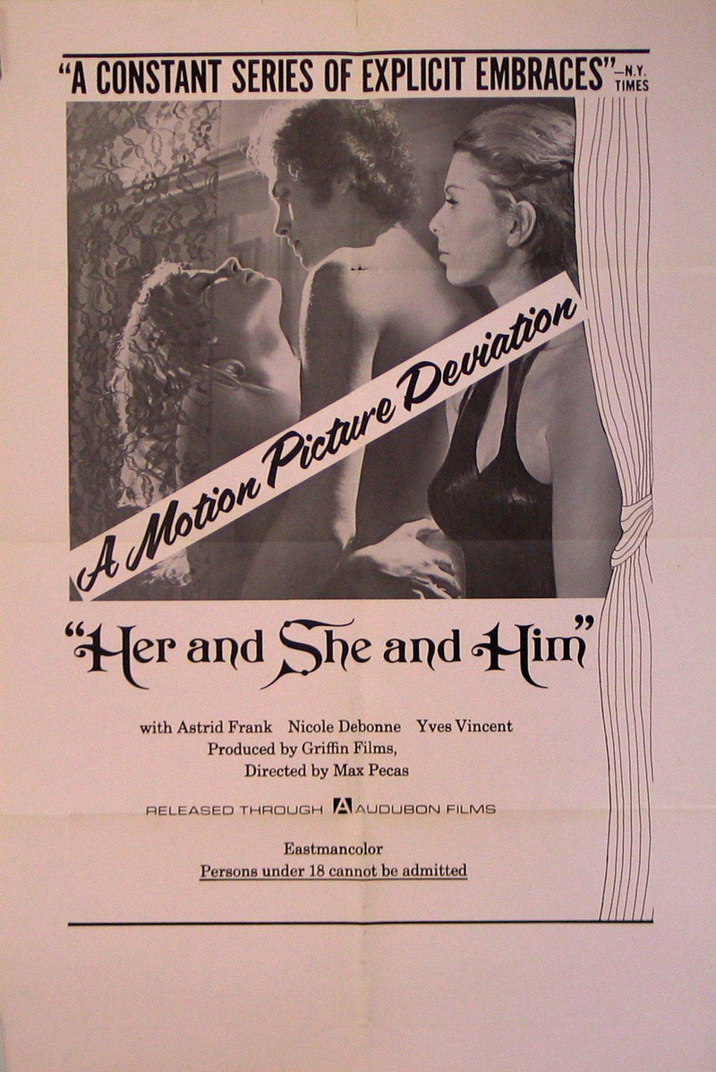 Her and She and Him 1 Sheet (27x41) Original Vintage Movie Poster