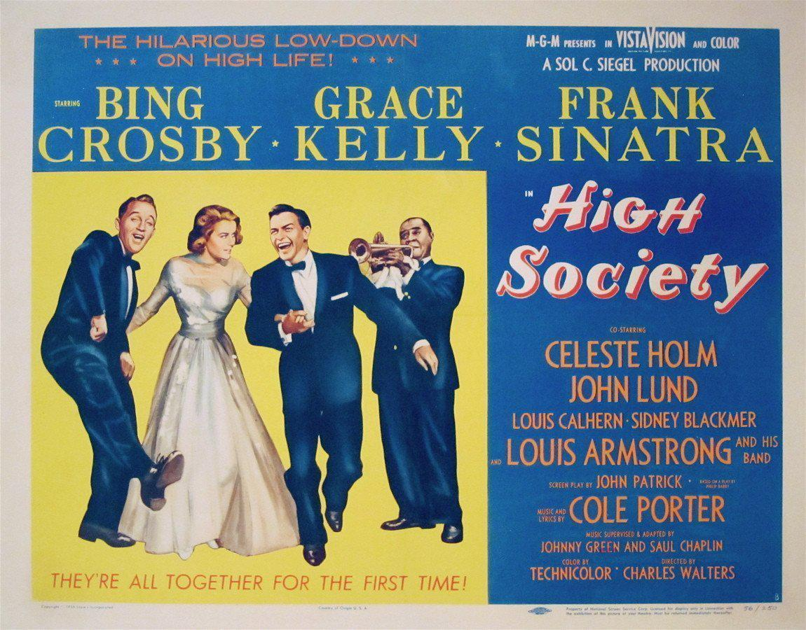 HIgh Society Half sheet (22x28) Original Vintage Movie Poster