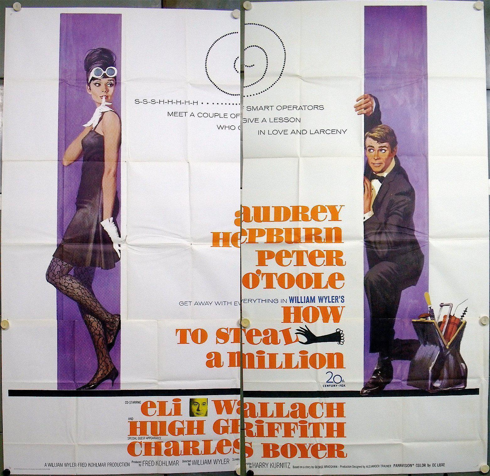 How to Steal a Million 6 Sheet (81x81) Original Vintage Movie Poster
