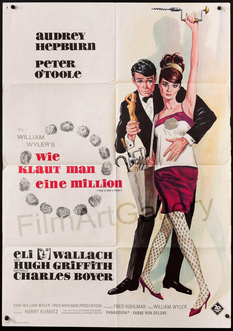 How to Steal A Million German A1 (23x33) Original Vintage Movie Poster