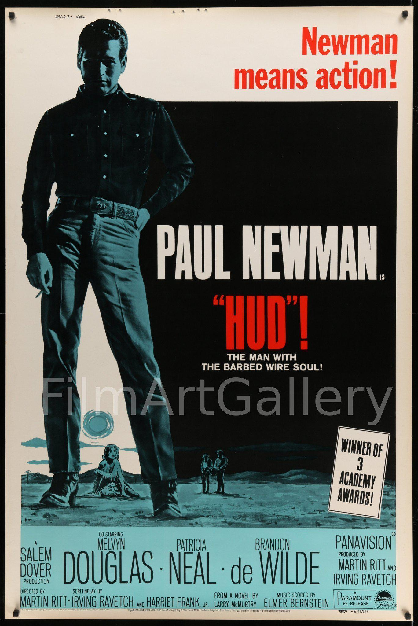 Hud 40x60 Original Vintage Movie Poster