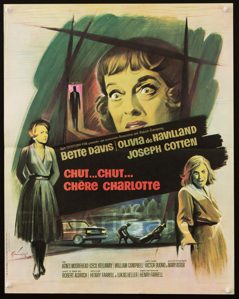 Hush Hush Sweet Charlotte French Mini (16x23) Original Vintage Movie Poster