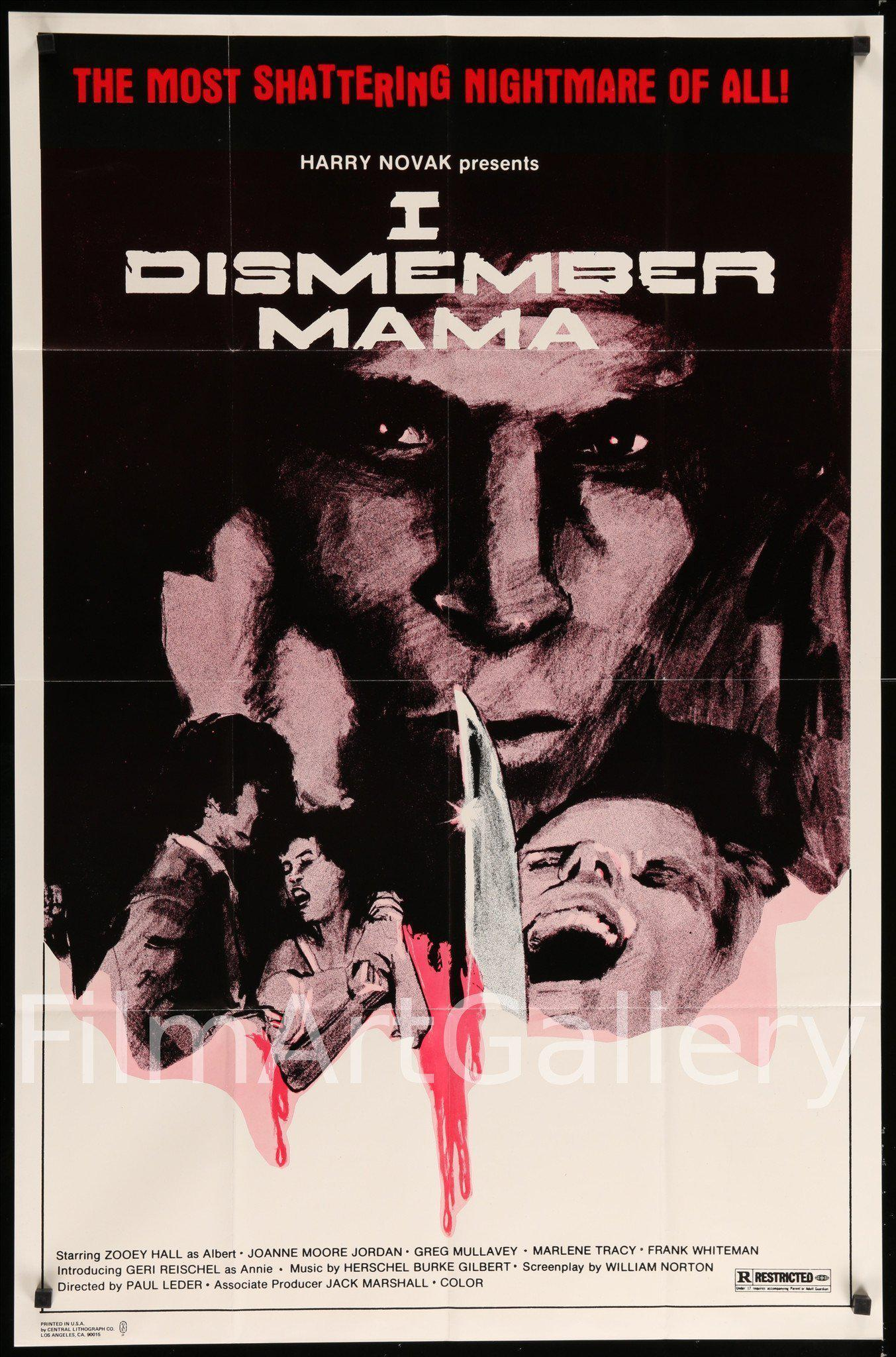 I Dismember Mama 1 Sheet (27x41) Original Vintage Movie Poster