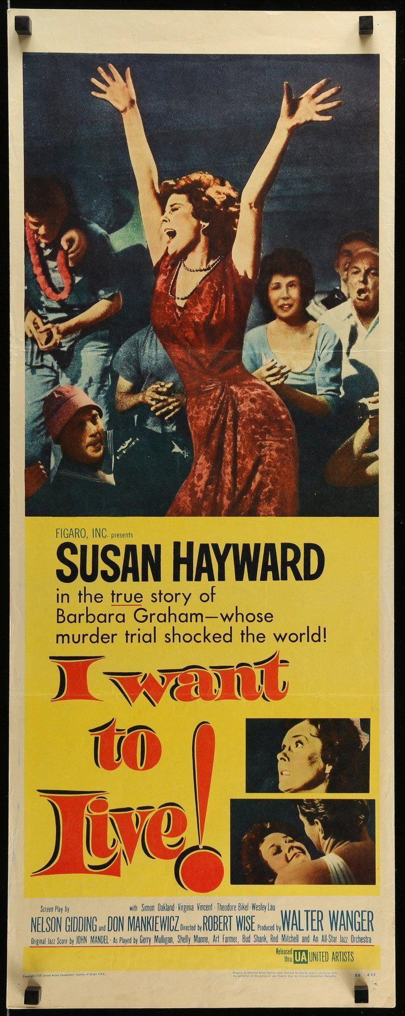 I Want To Live Insert (14x36) Original Vintage Movie Poster