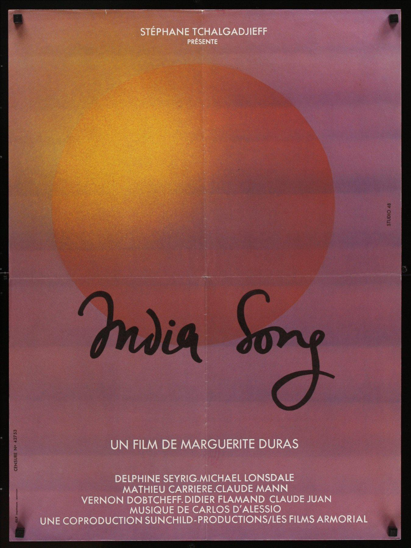 India Song French small (23x32) Original Vintage Movie Poster