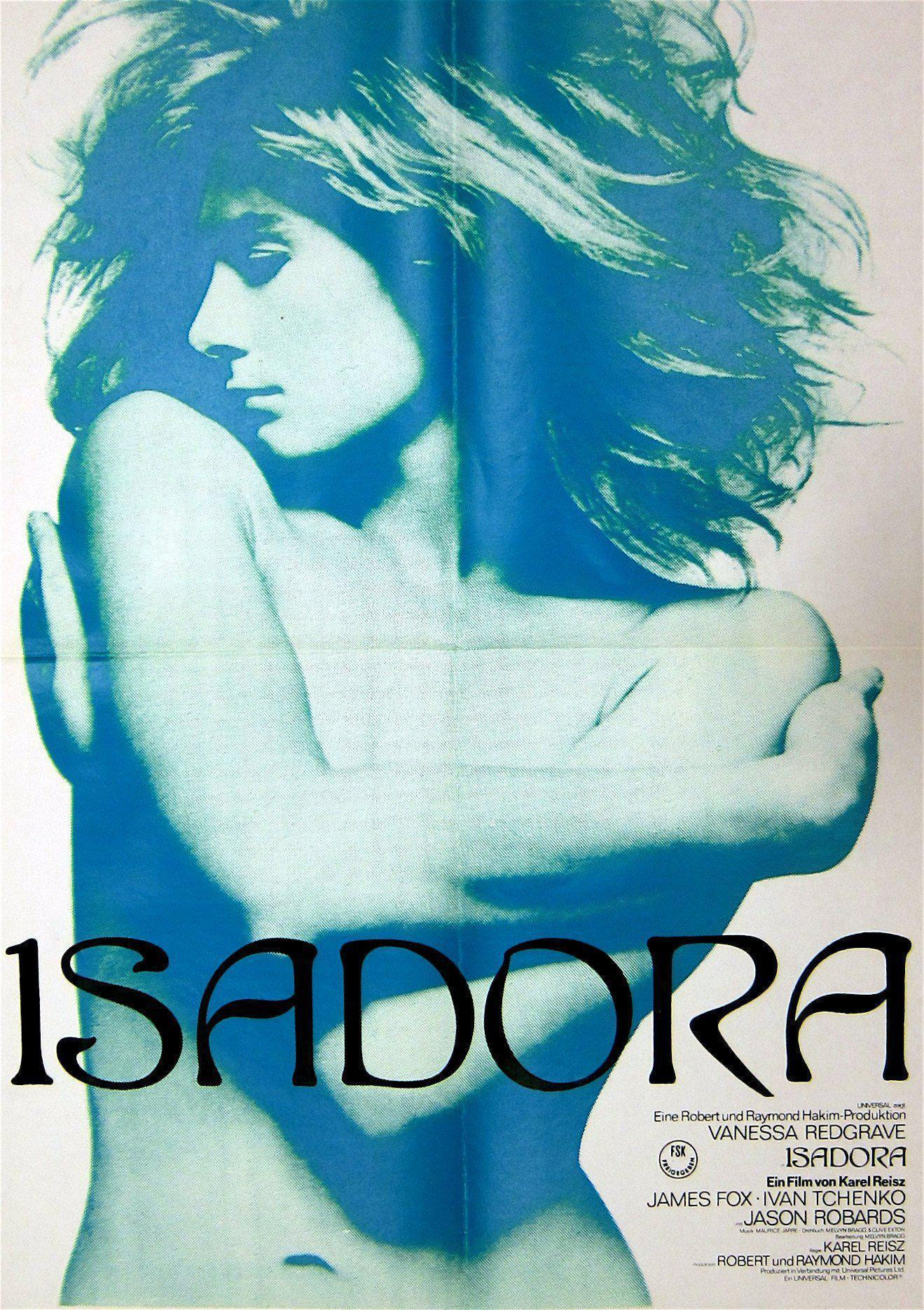 Isadora 16x23 Original Vintage Movie Poster