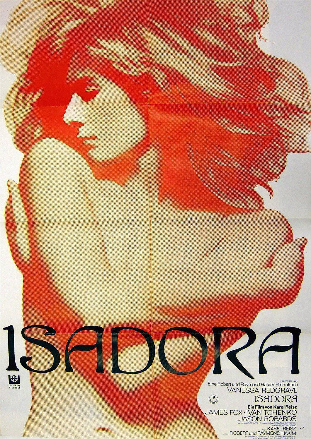 Isadora German A1 (23x33) Original Vintage Movie Poster