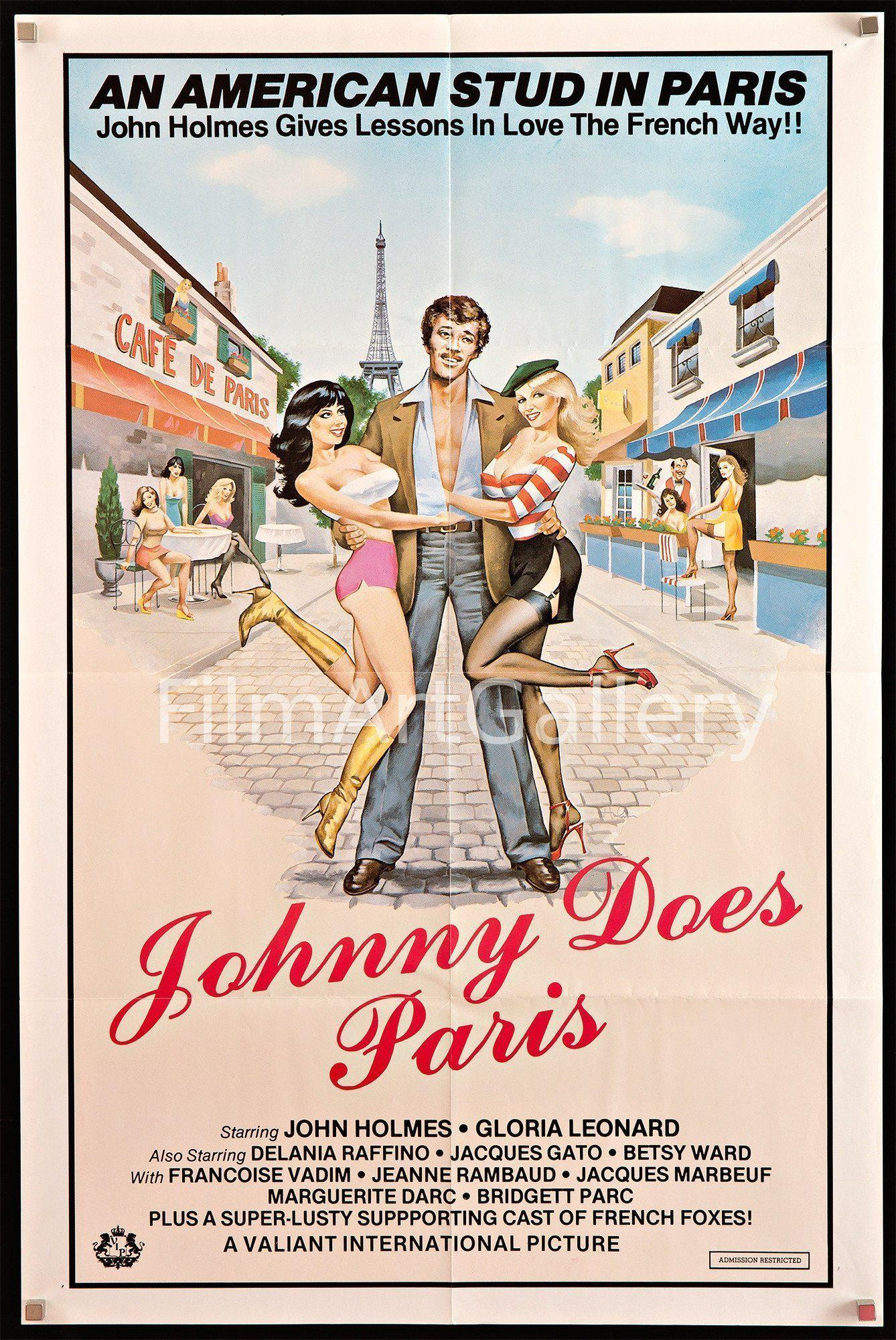 Johnny Does Paris (Extreme Close Up) 1 Sheet (27x41) Original Vintage Movie Poster