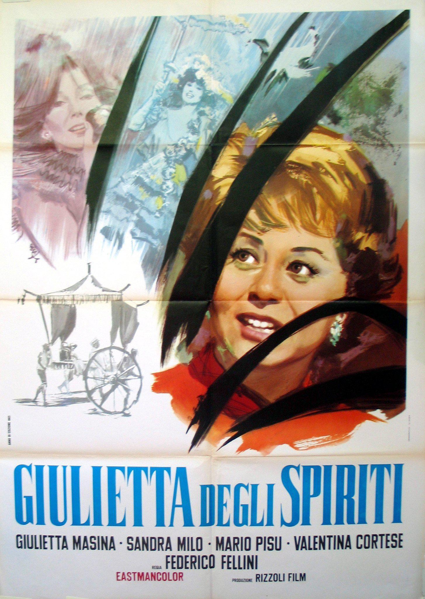 Juliet of the Spirits (Giulietta Degli Spiriti) Italian 2 foglio (39x55) Original Vintage Movie Poster