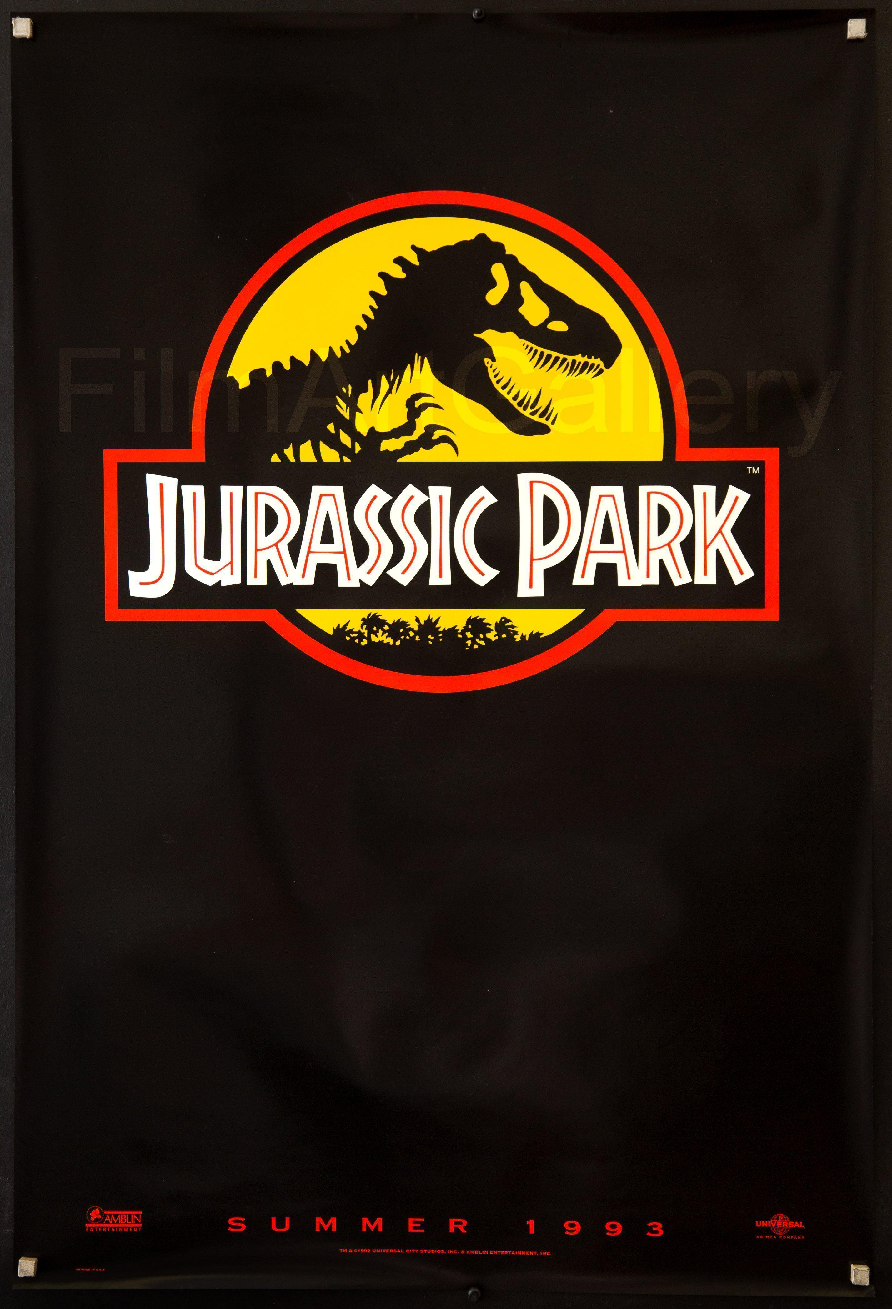 Jurassic Park 1 Sheet (27x41) Original Vintage Movie Poster
