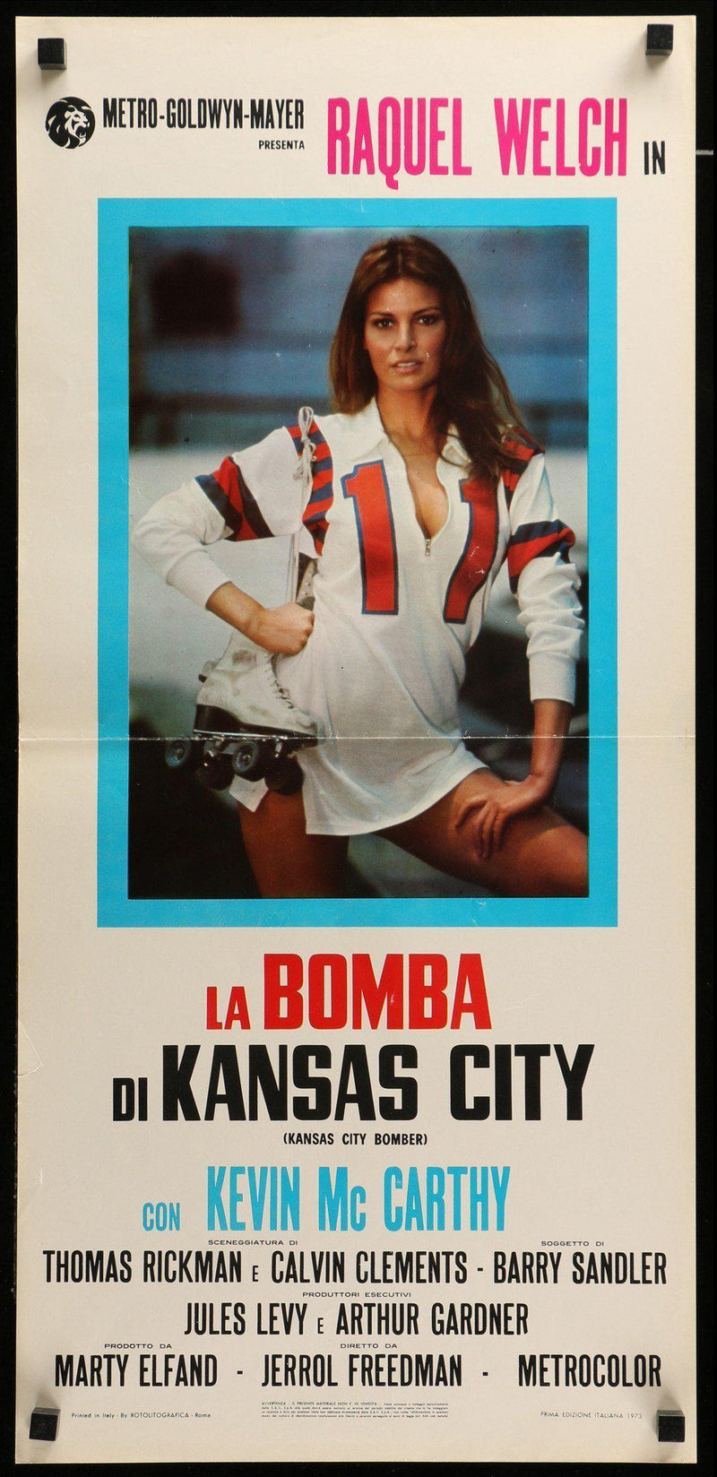 Kansas City Bomber Italian Locandina (13x28) Original Vintage Movie Poster