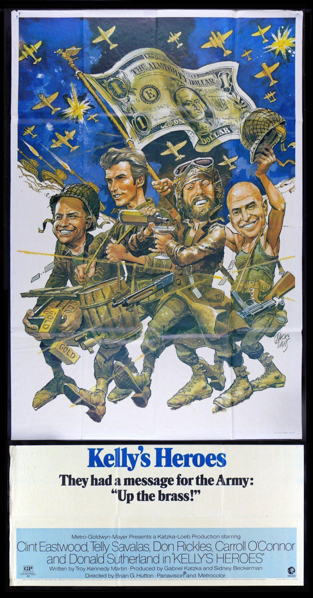 Kelly's Heroes 3 Sheet (41x81) Original Vintage Movie Poster