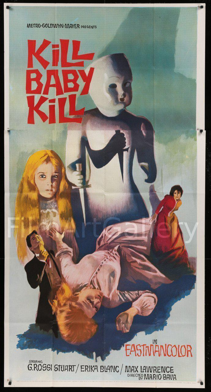 Kill Baby Kill (Operazione Paura) 3 Sheet (41x81) Original Vintage Movie Poster